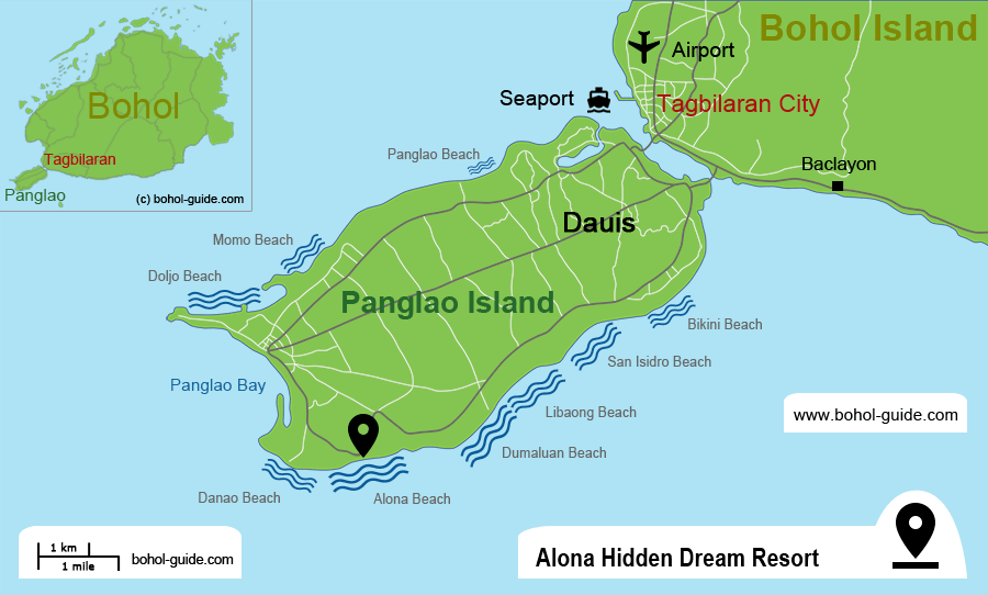 Alona Hidden Dream Hotel Location