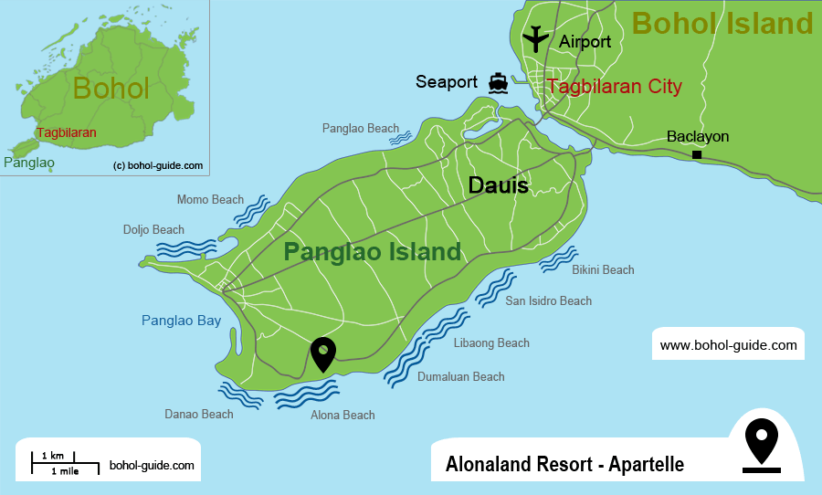 Alonaland Resort Location Map
