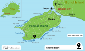 Amorita Resort Location Map