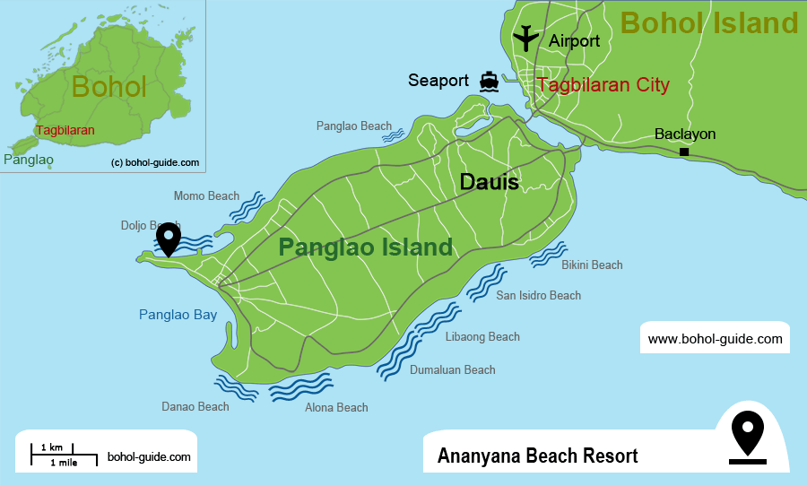Ananyana Beach Resort Location Map