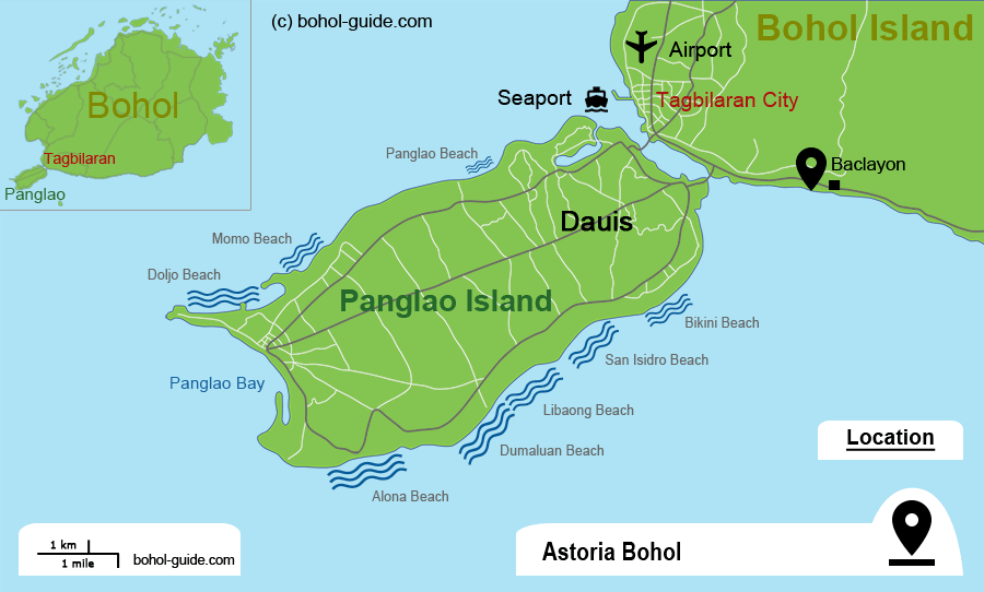 Location Map - Astoria Bohol