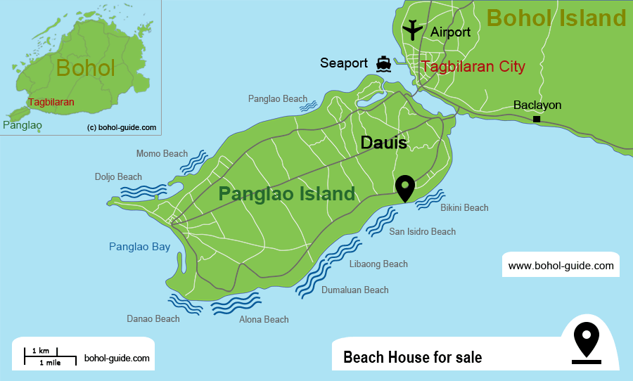 Panglao Beach House for sale - Location