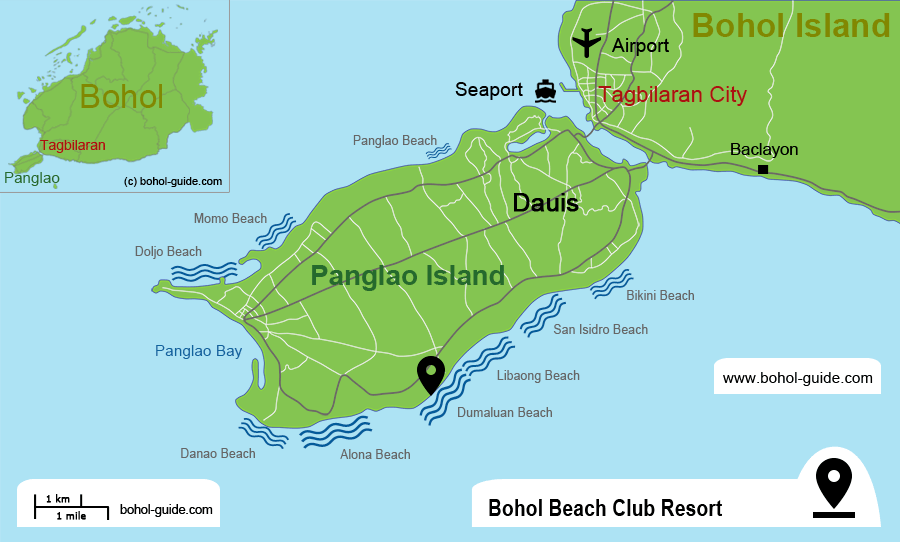 Bohol Beach Club Resort Location