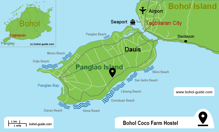 Bohol Coco Farm Location Map