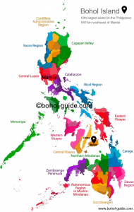 Bohol Philippines Location Map