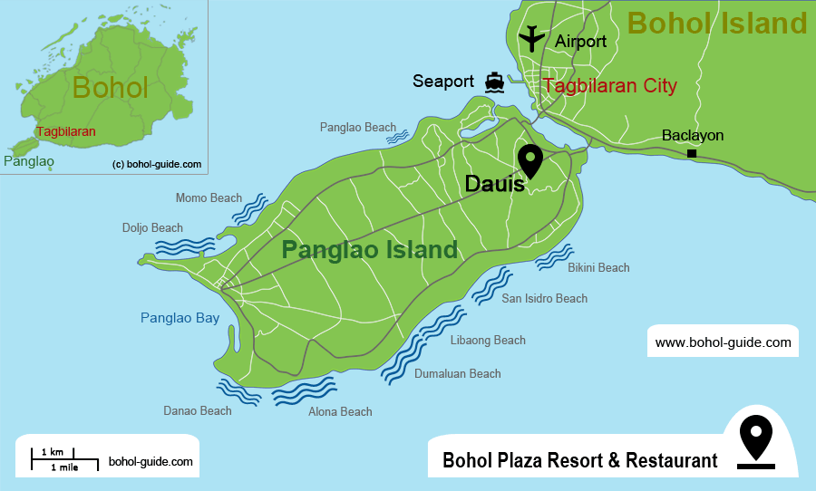 Bohol Plaza Resort Location Map