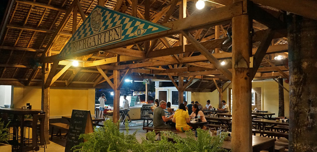 German Beer garden in Panglao