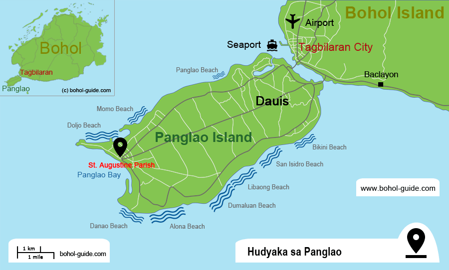 Hudyaka sa Panglao Location Map