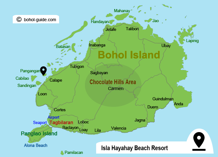Isla Hayahay Beach Resort Location