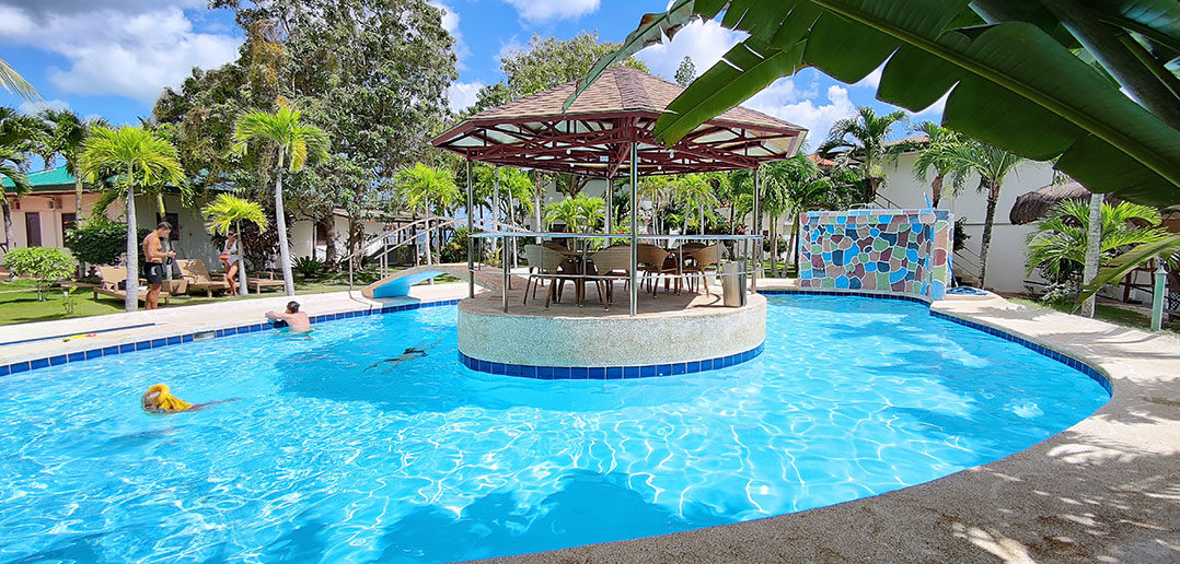 Island Style Swimming Pool Area