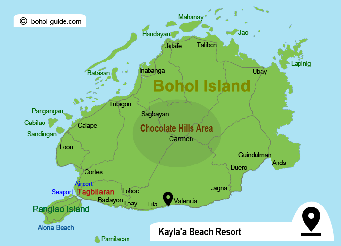 Kaylaa Beach Resort Location Map