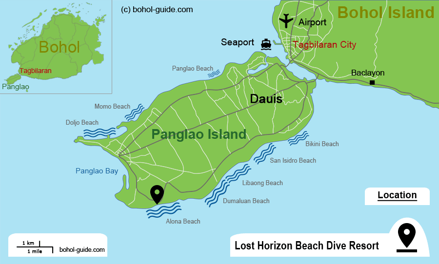 Lost Horizon Resort - Alona Beach Location