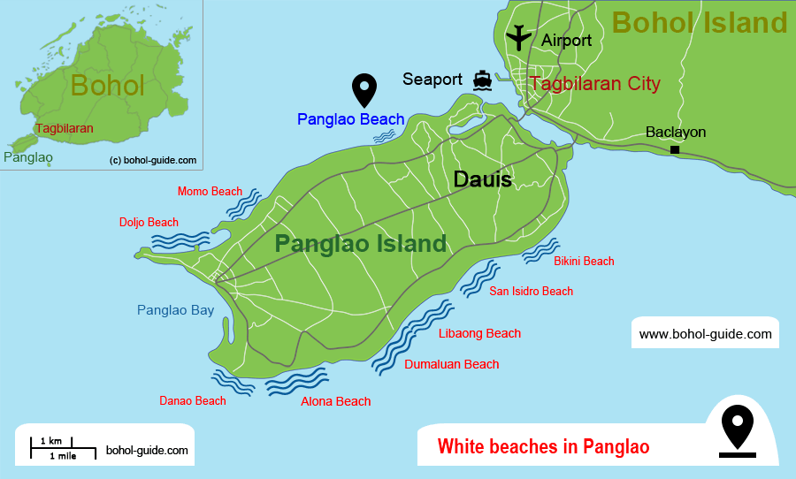 Panglao Beach Location Map