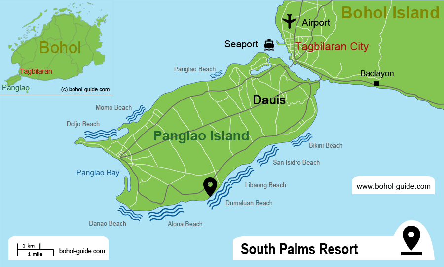 South Palms Resort Location Map