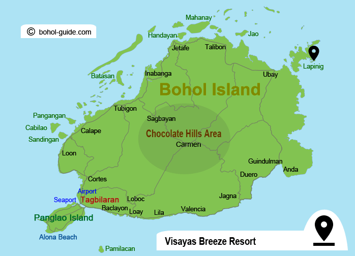 Visayas Breeze Resort Location Map